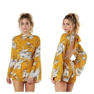 Pants - ️Marigold Yellow Floral Romper